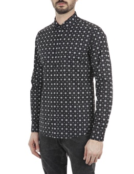 Replay Printed Shirt Black