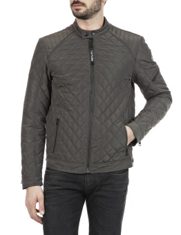 Quilted Recycled Jacket Olive