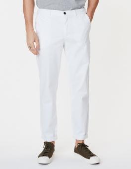Pascal Elastic Waist Pants White