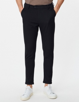 Como Pinstripe Suit Pants Dark Navy