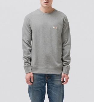 Samuel Logo Sweat Grey Melange