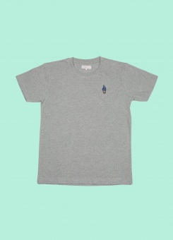 Vacation Tee Grey Melange