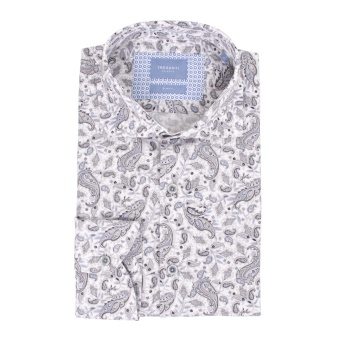 Grey Shirt Paisley Print