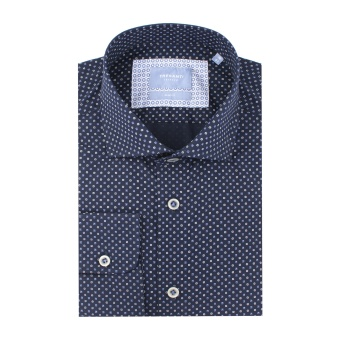 Navy Shirt With Graphic Print