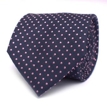 Navy/Pink Dot Tie
