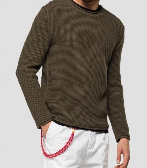 Hyperflex Crewneck Sweater Dark Olive