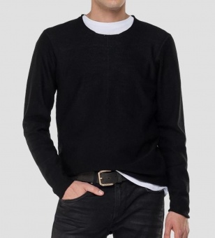 Replay Crewneck Sweater Black