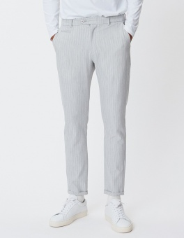 Como Light Pinstripe Suit Pants Snow/White