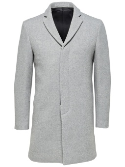 Brove Coat Medium Grey Melange