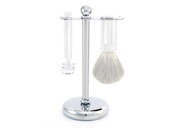 Stand For Razor And Brush Chrome