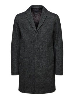 Hagen Wool Coat Dark Grey