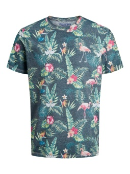 Tropical Birds Tee Blue Depths