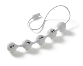 Peas Hub For Usb White