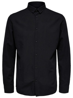 Linen Shirt LS Black