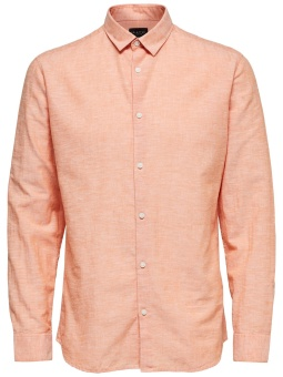 Linen Shirt Classic Coral Gold