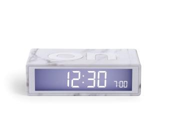 Flip Alarm Clock White Marble