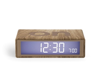 Flip Alarm Clock Light Wood