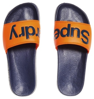 Pool Slide Dark Navy/Orange
