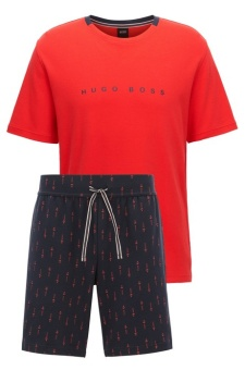 Relax Short Set Open Red