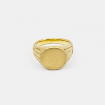 Round Singet Ring Guld