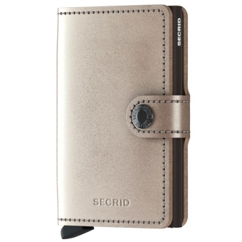 Miniwallet Metallic Champagne-Brown