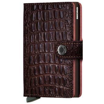 Miniwallet Nile Brown Alligator