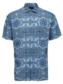 Carl Shirt SS Aop Light Blue
