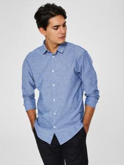 Linen Shirt LS Medium Blue