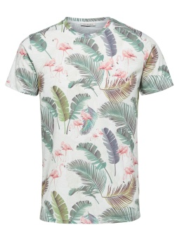 Tropical Tee White Flamingo