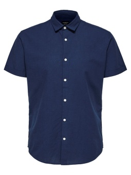 Linen Shirt Classic SS Dark Blue