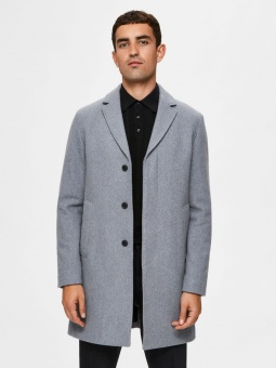 Hagen Wool Coat Grey Melange