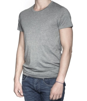 Men T-Shirt Grey