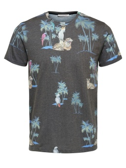 Tropical Tee Black Tiger