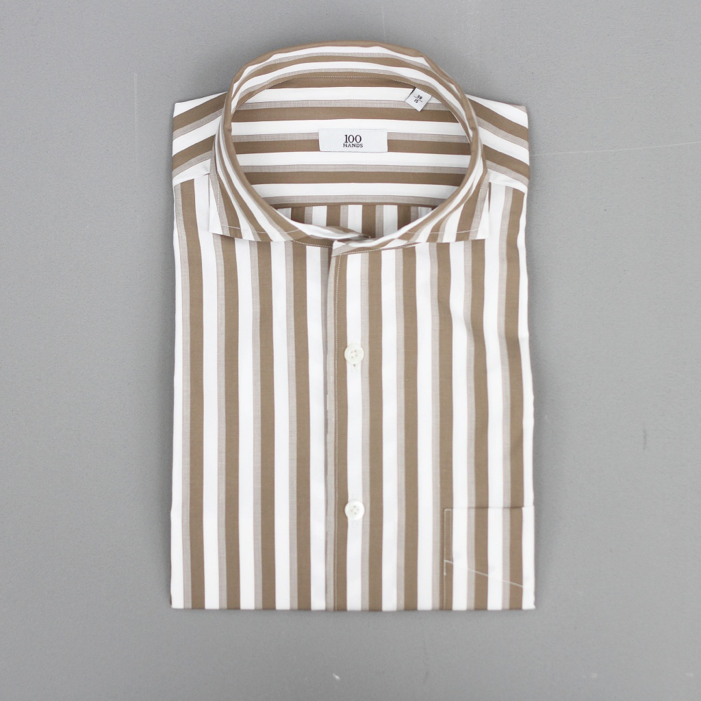 100 Hands Black Line Sand/Taupe/Creme Wide Stripe