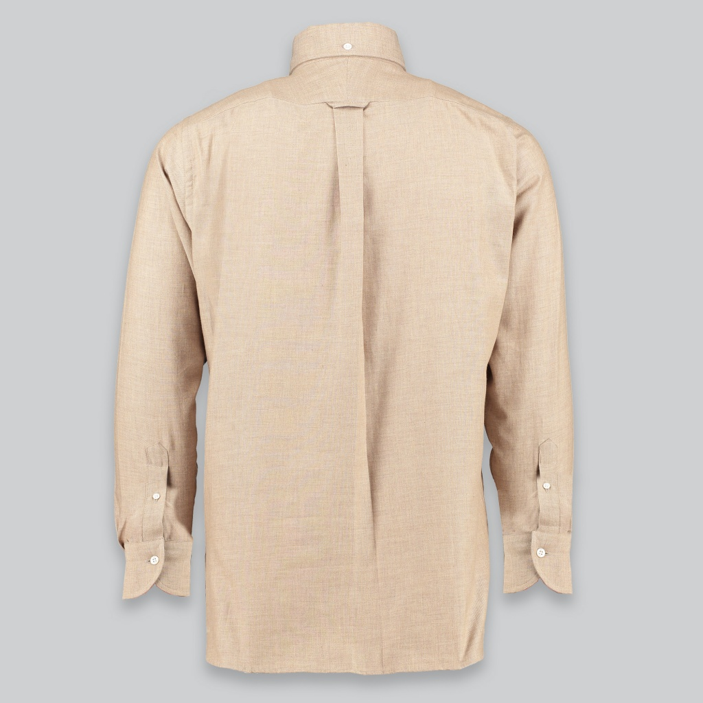 Drake´s Shirt Cotton Flannel Beige