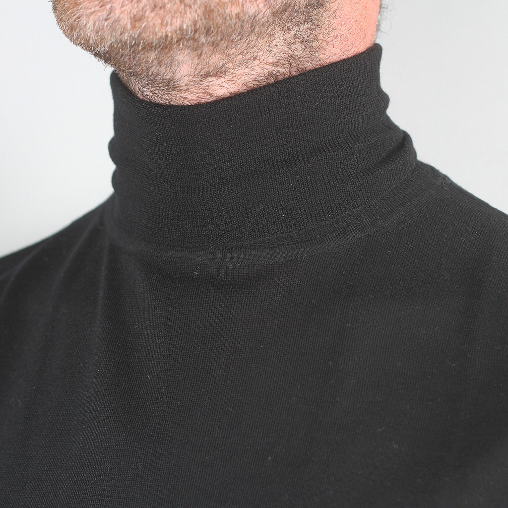 Aspesi Merino Rollneck Sweater Black