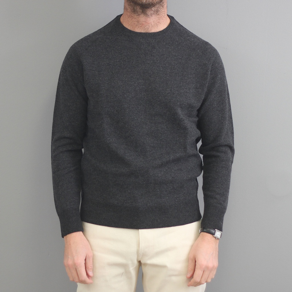 Aspesi Crewneck Sweater Wool Charcoal