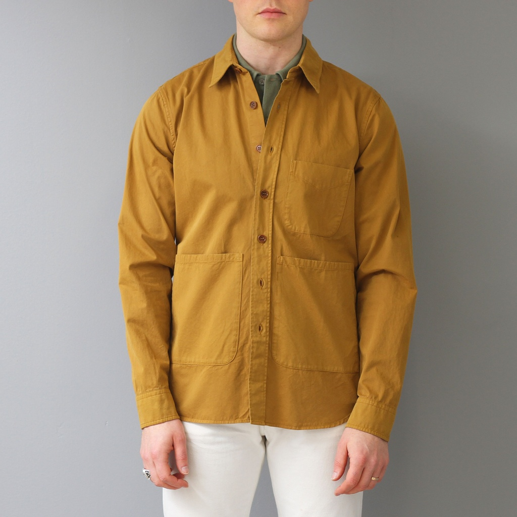 Aspesi Overshirt Cotton Mustard