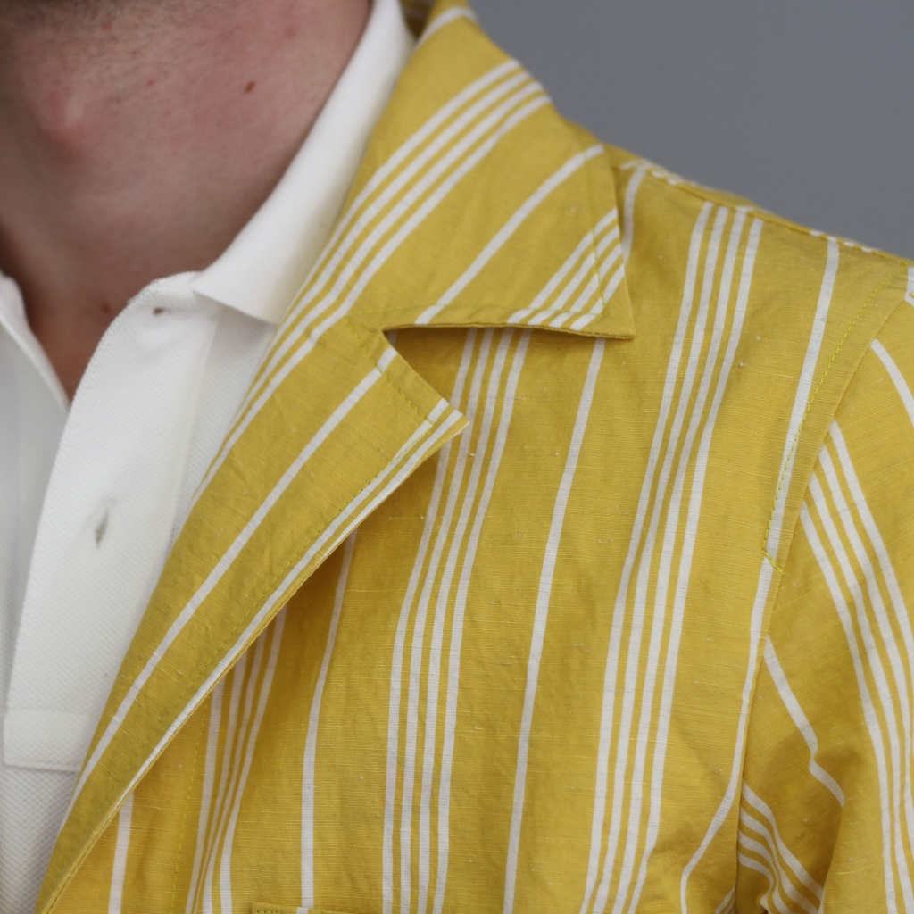 Aspesi Overshirt Stripe White/Yellow