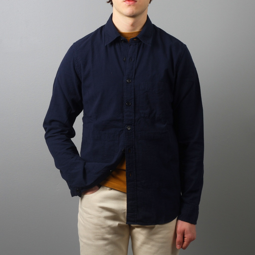 Aspesi Overshirt Cotton Navy