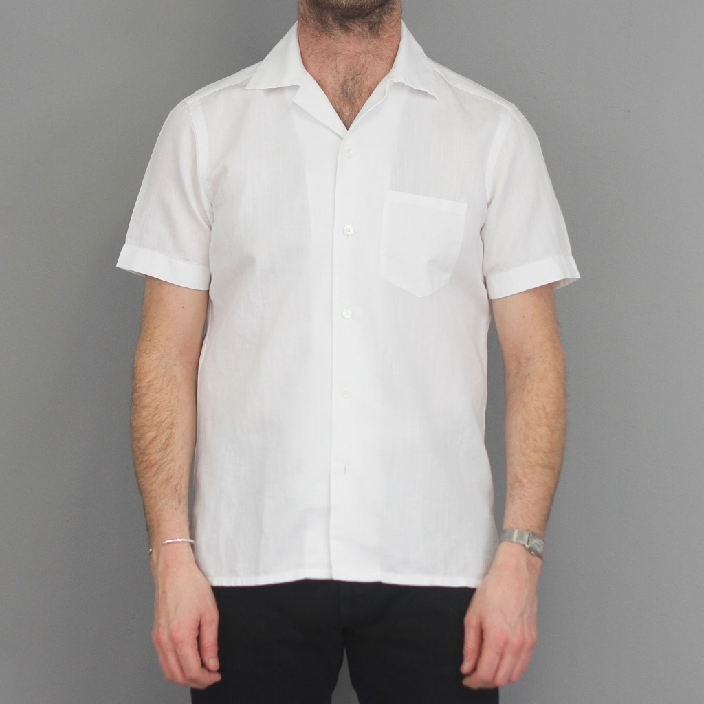 Barba Shirt Short Sleeve White Twill