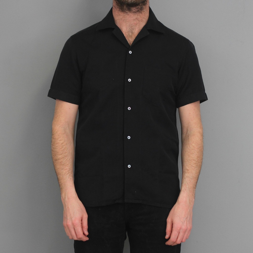 Barba Shirt Short Sleeve Black Twill