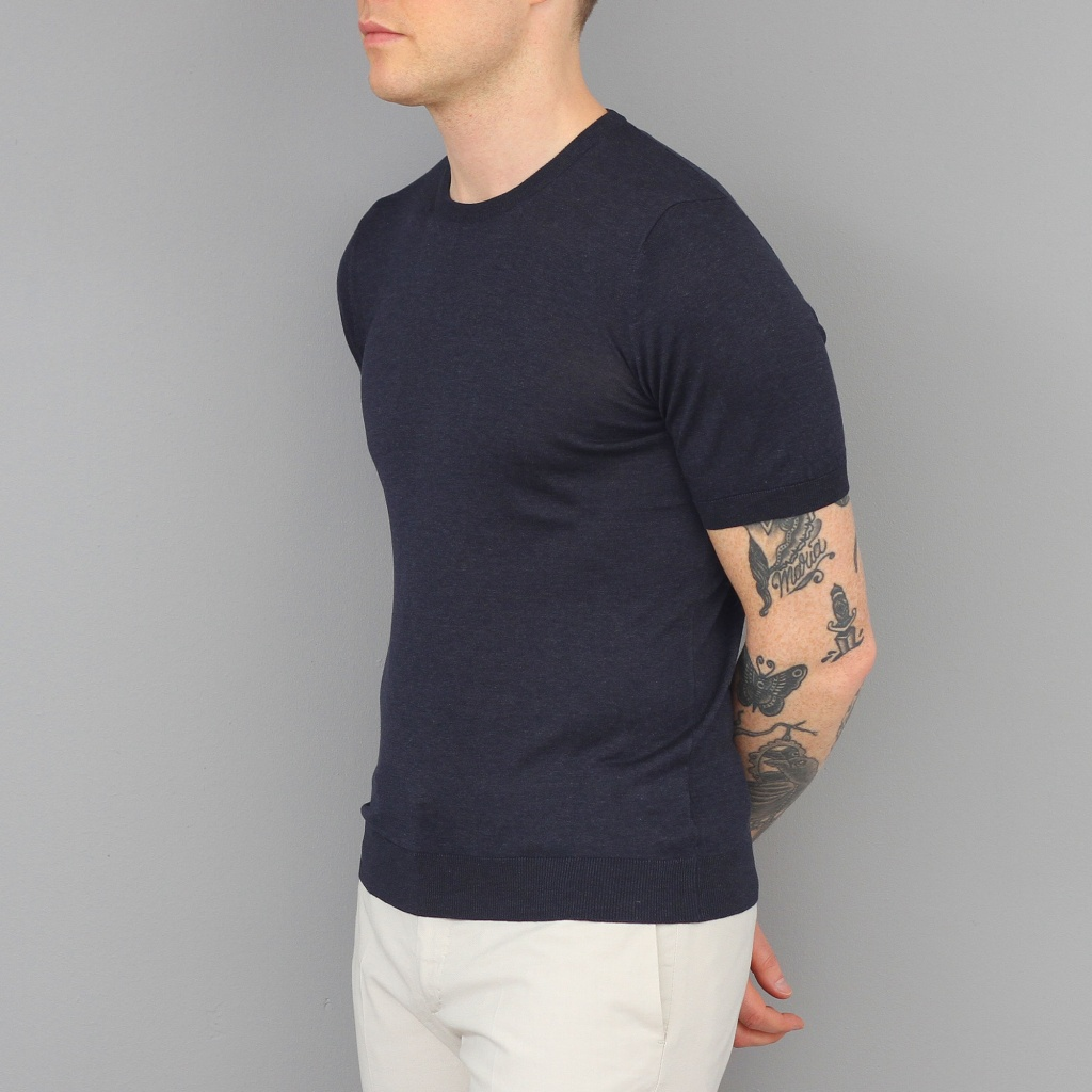 Barba T-Shirt Silk Navy