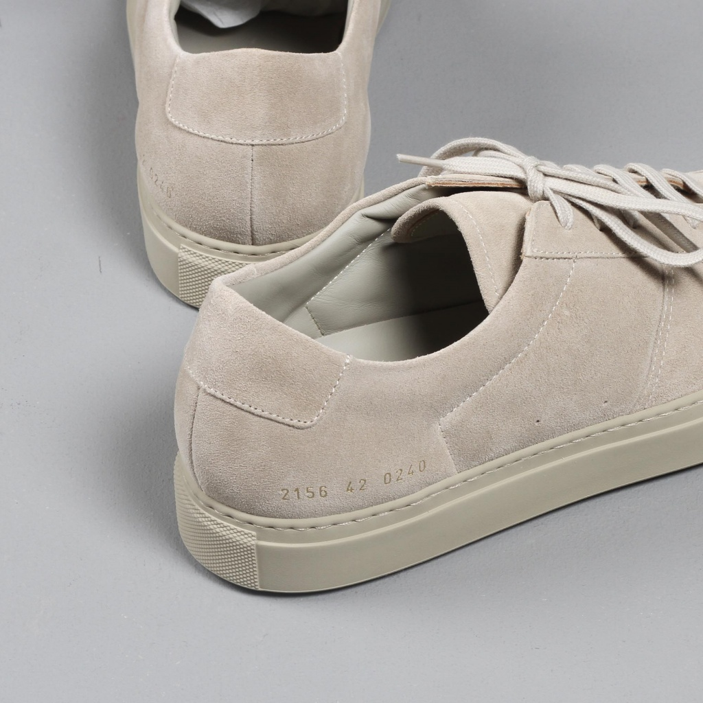 Common Projects BBall Taupe Suede