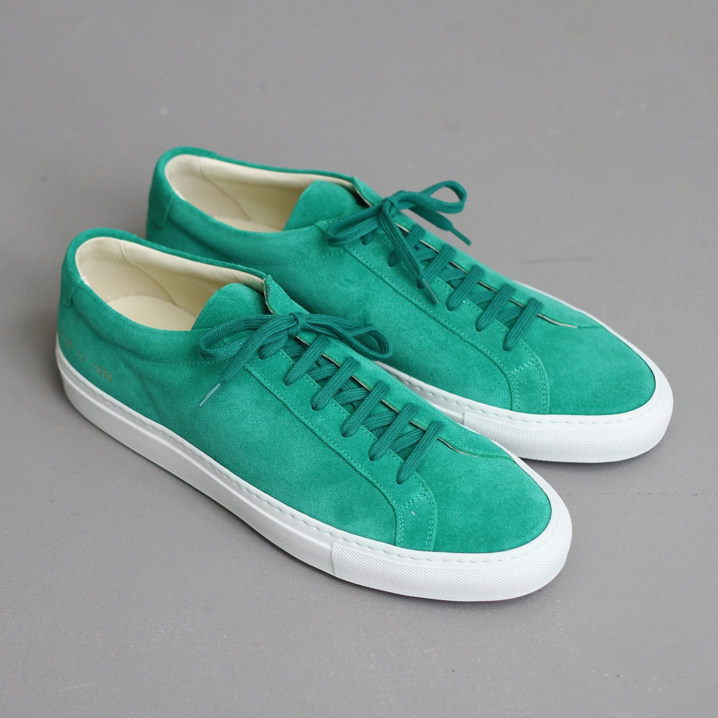 Common Projects Achilles Green Suede