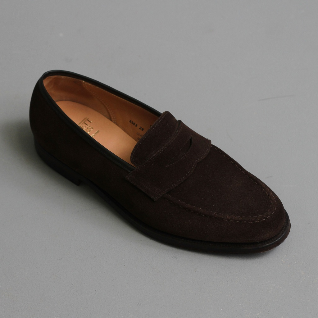 Crockett & Jones Boston Dk Brown Suede