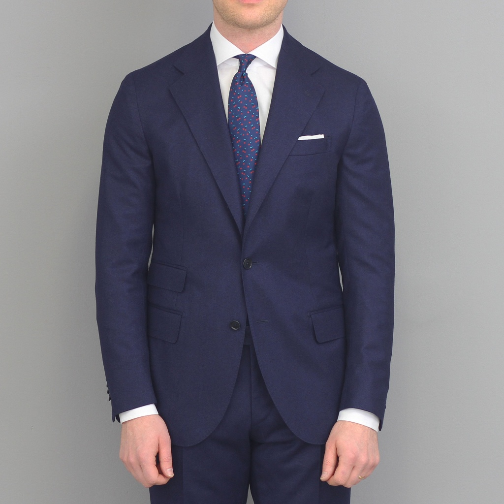 De Petrillo Riviera Suit Blue Flannel