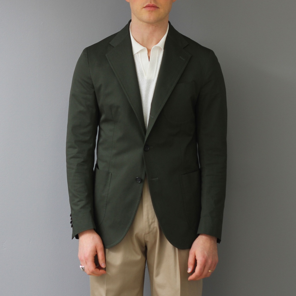 De Petrillo Jacket Cotton Forest Green