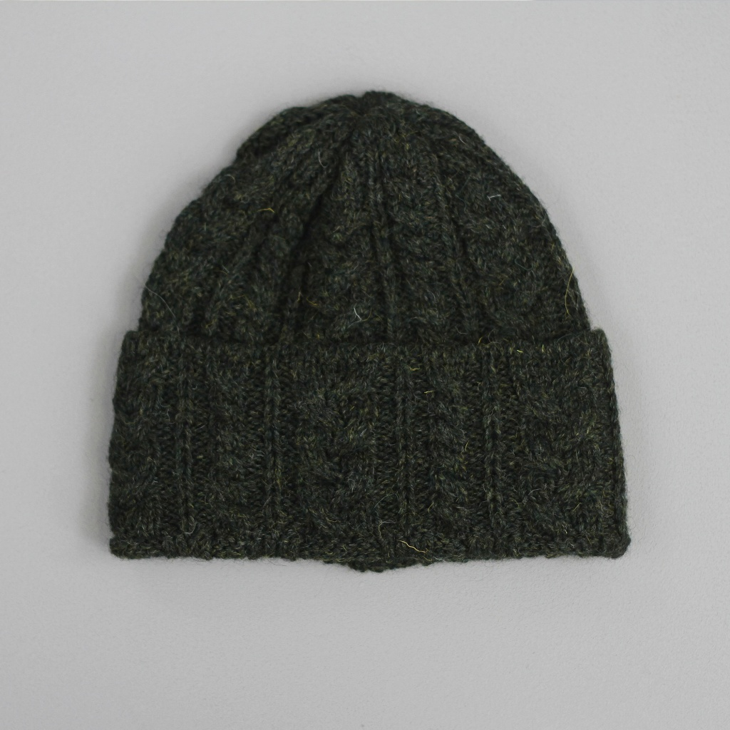 Drake's Hat Wool Cable Loden