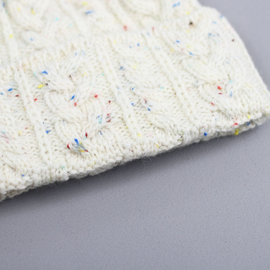 Drake's Hat Wool Cable Cream